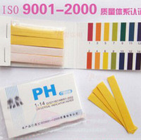 Wholesale ph indicator paper - Wholesale-High Quality Full Range 1-14 Litmus Test Paper Strips 80 Strips PH Paper Tester Indicator PH Partable Meters Analyzers