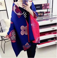 Wholesale Cashmere Large Scarf - Cashmere Blended Wool Shawl Fashion Modeling Winter Warm Lady Long Blanket Soft Shawl Large Size 65cmx180cm 3 Color