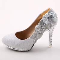 Wholesale High Heeled Dancing Shoes - 4 inch High Heels Wedding Shoes Lady Formal Dress Women's Fashion Dance Shoes Performances Prom Shoes DY899-8 Silver
