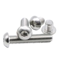Wholesale Stainless Screw M5 - M5 (Thread Dia.5mm) A2 Stainless Steel Button Head Hex Socket Screws Round Head