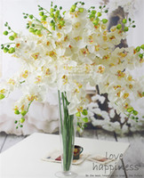 """Wholesale artificial stems - NEW Silk Single Stem Phalaenopsis 80cm 31.5"""" Length Artificial Flowers for Wedding Centerpieces 5 Colors Available"""