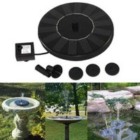 Wholesale Wholesale Plastic Ponds - Solar Water Pump Power Panel Kit Fountain Pool Garden Pond Submersible Watering Display Garden Supplies CCA7917 10pcs