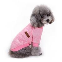 Wholesale Fleece Dog Vest - Pet Clothes Dog Classic Sweater Coat Fleece Knitwear Clothes Dog Sweater Coat Chihuahua Costume Pets Supplies Pet Clothes Winter Puppy
