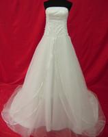 Wholesale Allure Mermaid - Allure a-line beaded strapless Scoop wedding dress with pearl vestidos de festa