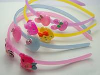 Wholesale Headbands Bear - 4 Assorted Resin Colorful Cute Rabbit Bear Cat Heart headband hair band With Teeth
