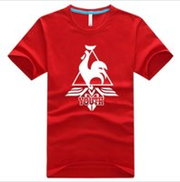 Wholesale France T Shirt - Summer new Le Coq Sportif France cock Le Coq Sportif men and women cotton T-shirt lovers round neck short sleeve shirt fashion tide Hot whol