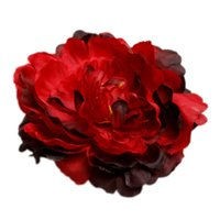 Wholesale Hg Wholesale Clothing - Wholesale-Hot 12cm Simulation Large Peony Artificial Silk Flower Head Hat Clothing Accessories Diy Wedding Arrangement HG-1927