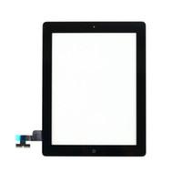verre ipad2 achat en gros de-Digitizer en verre noir blanc de haute qualité avant écran tactile avec bouton d'accueil pour iPad 2 3 4 Livraison gratuite