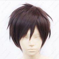 Wholesale Eren Cosplay Wig - HOT! Attack on Titan Eren Jaeger Short Dark Brown Cosplay Wig