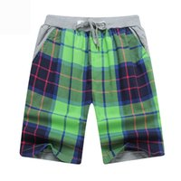 Wholesale slimming swimwear brands for sale - FG1509 New Arrival Plaid Short Men Loose Beach Shorts Summer Outdoor Fashion Mens Swimwear Shorts Casual Brand Shorts Size Xxl