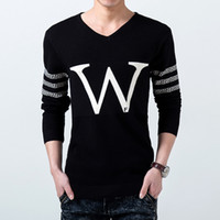 Wholesale Black Shall - V-neck sweater men's Spring and Autumn Period shall run the amount of wholesale male Korean version of the Slim hedging 8047