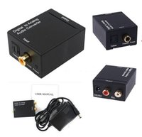 Wholesale hdmi optical for sale - 30JPCS Good Digital Optical Coax Coaxial Toslink to Analog RCA L R Audio Converter Adapter freeshipping