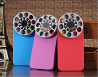 Wholesale Iphone Lens Filter - 1x Hot 3D Lens & Filter Kaleidoscope Camera Hard Case Cover For iPhone 5G 5S Watch Football Game Free Shipping Retail Box Z00561