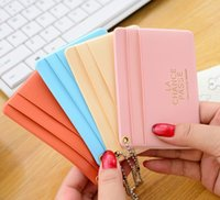Wholesale Wholesale Acrylic Business Card Holders - Simple ID holder sets card package Wallet door clip card holder Credit Card Business CARDS package mini bus card sets 00559
