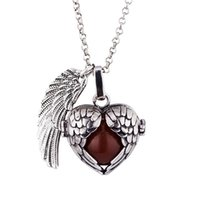 Wholesale Bola Silver Pregnancy Necklace - Hot pregnancy necklace Harmony bola pendant necklaces Double wing silver gold wishing bell pendant necklace gifts Baby Angel caller
