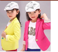 Wholesale Trench Coats For Girls Kids - 2015 NEW spring kids suits jacket for girls, Children brand casual coats, Fashion trench girl blazers kids clothing,