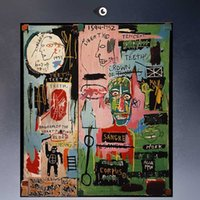 Wholesale Landscape Poster Paints - GRAFFITI ART POSTER PRINT ON CANVAS in-italian BY Jean Michel Basquiat -Neo-Expressionism FOR HOME DECORATION
