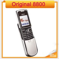 Wholesale russian keyboard mobile phone - Unlocked Original 8800 Nokia Mobile Phone Glod Silver Black Colors Have Russian keyboard