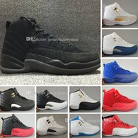 Wholesale Perfect Nylon - Drop Shipping Super Perfect Quality Cheap 12 Flu Game French Blue The Master Mens Basketball Sport Shoes for men Ship out in 2days