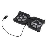 doppelventilatoren kühlkissen großhandel-Faltbarer USB-Kühlventilator Mini Octopus Notebook Kühler Cooling Pad Ruhiger Stand Doppelte Fans für 7 bis 15 Zoll Notebook Laptop PC