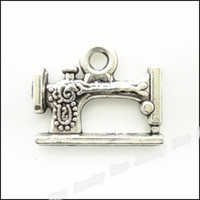 Wholesale Sewing Machine Silver Charms - 35 pcs Vintage Charms Sewing machines Pendant Antique silver Fit Bracelets Necklace DIY Metal Jewelry Making