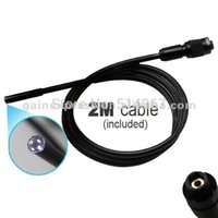 "Wholesale Endoscope Lcd 9mm - Wireless Wired 3.5"" TFT LCD Video Inspection Snake Scope Borescope Endoscope Camera 9mm Diameter Camera + 2Meter 2M Cable"