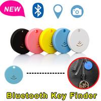 alarme de telefone celular perdido venda por atacado-Localizador de item Bluetooth inteligente para qualquer coisa Bluetooth 4.0 rastreador Anti perdeu o alarme com obturador de câmera remota para iOS e Android