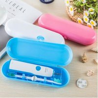 Wholesale Toothbrush Box Travel - 3 Colors Portable Electric Toothbrush Holder Travel Safe Case Box Outdoor Toothbrush Boxes Organizer CCA8191 50pcs