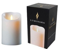"Wholesale Wholesale Red Pillar Candles - 6pcs lot, Luminara Remote Ready 3.5"" x 5"" Ivory Wax Flameless Moving Wick LED Candle with Timer over 500 hours"