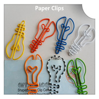 Wholesale Cute Shaped Paper Clips - 200Pcs Light Bulb Shape Paper Clips Cute Cartoon Bookmark Memo Clip Stationery for Office School Home Use Xmas Best Gifts