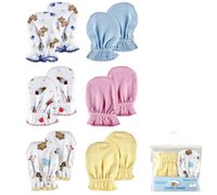 Wholesale Luvable Friends Wholesale - Wholesale-Luvable Friends 2-Pack newborn Mittens Scratch Mittens,baby gloves,0-6 months