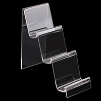Wholesale Jewelry Display Products - Transparent Acrylic Mobile Phone U Disk Jewelry Display Stand Holder Digital Products Purse Wallet Rack Showcase Organizer