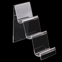 mobiltelefone displayhalter stehen großhandel-Transparente Acryl Handy U Disk Schmuck Display-ständer Halter Digital Produkte Geldbörse Brieftasche Rack Showcase Organizer