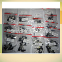 Wholesale Transistor A92 - S9012 S9013 S9014 A1015 C1815 S8050 S8550 2N3904 2N3906 A42 A92 A733,17valuesX10pcs=170pcs,Transistor Assorted Kit order<$18no track