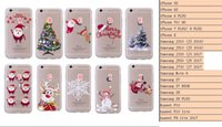 Wholesale case iphone santa claus - Xmas Tree Stock TPU Soft Case For IPhone X 8 7 6 6S Plus 5 SE 5S Huawei P10 Lite P8 Lite 2017 Redmi NOTE 4X NOTE4 Santa Claus Crystal Cover