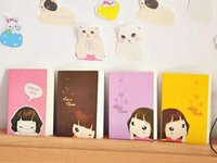 Wholesale Smiley Diary - New cute smiley girl Notebook Linear Letters diary book Notepad Note pad Memo Paper Pa Fashion Gift