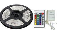 cuerda impermeable de color led al por mayor-Luz al aire libre de la tira de la prenda impermeable IP65 LED del jardín DC 12V 3528 SMD Colores múltiples que cambian la cuerda 300leds con los teledirigidos del IR y el adaptador 2A