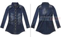Wholesale Oem Belts - FREE SHIPPING New BLUEGRANT Fashion 100% Cotton DARK BLUE SHIRT WITH BELT OEM &ODM