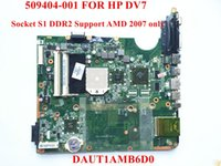 AMD SCSI Others Wholesale-Original laptop motherboard for HP DV7 motherboard 509404-001 socket S1 DDR2 DAUT1AMB6D0 Support AMD 2007 CPU Fully tested