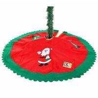 delantal falda árbol de navidad al por mayor-Al por mayor-DHDL-Decoracion Navidad Navidad decoraciones para el hogar 2016 Straight Edge 90CM Non-Woven Christmas Tree Skirt Delantales
