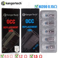 Wholesale Dual Core Clearomizer - 100%Original Kanger OCC Replacement Coil upgraded Ni200 0.15ohm sub ohm Kangertech Subtank Clearomizer Vertical dual Coils atomizer core DHL