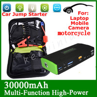 Wholesale car jump start resale online - Car Jump Starter mAh Multi Function Mini Portable Start V Car Engine Emergency Battery Power Bank Car phone Battery Fast Charge