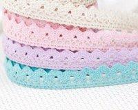 Wholesale Gifts Tape - 200pcs lots Decorative Gifts Princess lace tape Sticky Japanese style Washi Masking Tape fabric lace tape 1113#13