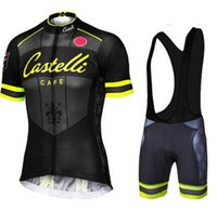 Wholesale Castelli Cycle Sets - Castelli Cycling Jerseys Sets Bike Suit Bicycle Clothes Breathable Short Sleeves Shirt Bib Shorts Mens Cycling Clothing