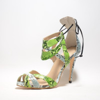 sandalias estilo encaje al por mayor-2017 Real Summer Style Women Sandals Cheap Modest Lace Up Sanke Real Image Plus Size Moda Zapatos de mujer Sexy Nuevo Llega Venta Caliente