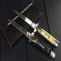 Wholesale Antiques Knives - Hot sale AKC Italy antique knife camping Collecting hunting knife knives copies 1Pcs freeshipping