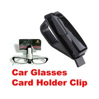 Atacado-O3T # Car Veículos viseira Sunglass Eye Glasses Holder Clip de stands