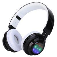 Wholesale Rhythm Types - 2016 Sport headphones Stereo bluetooth headset wearing type Bluetooth wireless phone FM insert CARDS LED the rhythm of light