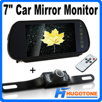 Wholesale Rear View Mirror Lcd Screen - High Quality 7 Inch Car Rearview Camera Monitor TFT LCD Color Screen Car Rear View Mirror Monitor Nighvision LED Back up Camera