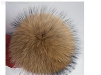 Wholesale Raccoon Fur Balls - Wholesale-With good gifts handmade fur ball Real raccoon fur ball big size diameter of 10cm fur pompoms for shoes,jewelry,cloth